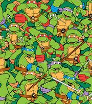 Nickelodeon Teenage Mutant Ninja Turtles Flannel Fabric -Retro, , hi-res