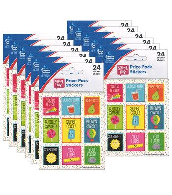 Carson Dellosa School Pop Prize Pack Stickers 12 Packs