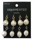 hildie & jo Ornamented 8 Pack Silver & Gold Charms-Pearl