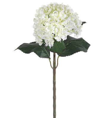 Bloom Room Pack of 6 22'' Hydrangea Stems-White