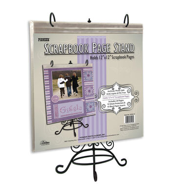 "Metal Scrapbook Page Stand For 12""X12""-"