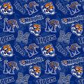 University of Memphis Tigers Cotton Fabric-Tone on Tone