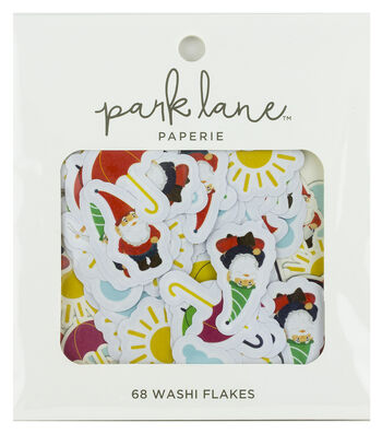 Park Lane Paperie 68 pk Washi Flakes-Rain or Shine