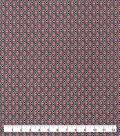 Snuggle Flannel Fabric-Black & Red Aztec Geo