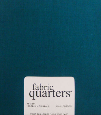 Fabric-Quarters Cotton Fabric-Solids Teal