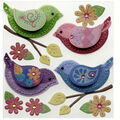 Stitched Colorful Birds