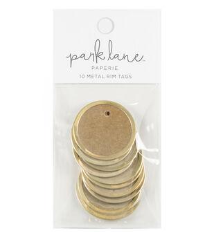 Park Lane Paperie 10 pk Metal Rim Tags-Gold & Kraft