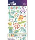 Sticko 165 Pack Flip Stickers-Baby Boy