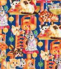 Novelty Cotton Fabric -Kittens At Play