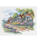 Cottages By The Sea Stamped Cross Stitch Kit