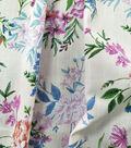 Linen Apparel Fabric 57\u0027\u0027-Multicolor Floral Amaretto on White