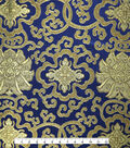 Brocade Fabric 44\u0022-Floral Dazzling Blue