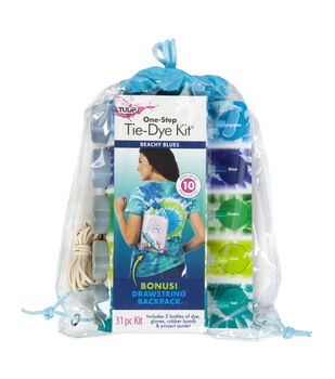 Tulip One-step Tie Dye Kit with Backpack-Beachy Blues