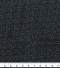 Quilter\u0027s Flannel Fabric -Mum Burst Black