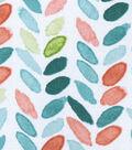 Silky Print Rayon Fabric 53\u0027\u0027-Green & Orange Leaves