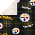 Pittsburgh Steelers Sherpa & Fleece Fabric-Plaid