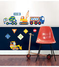 Wall Pops Construction Zone Wall Art Decal Kit, 10 Piece Set