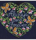 Design Works Crafts 10\u0027\u0027x10\u0027\u0027 Counted Cross Stitch Kit-Always & Forever