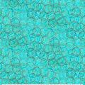 Keepsake Calico Cotton Fabric-Turquoise Circles Metallic