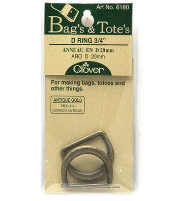 """Clover Black Nickel D Rings-1-3/16"""""""