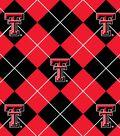 Texas Tech University Red Raiders Fleece Fabric -Argyle