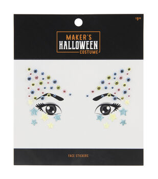 Maker's Halloween Costume Face Stickers-Unicorn