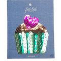 Fab Lab 4.87\u0027\u0027x3.87\u0027\u0027 Sequin Cupcake Iron-on Applique Patch