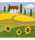 RIOLIS Combopu Cama 4.75\u0027\u0027x4.75\u0027\u0027 Long Stitch Embroidery Kit-Sunflowers