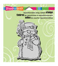 Stampendous Christmas Cling Rubber Stamp 3.5\u0022X4\u0022 Sheet-Country Snowman
