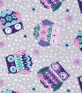 Snuggle Flannel Fabric 42\u0027\u0027-Printed Sleepy Owls