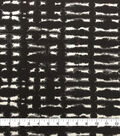 Knit Prints Rayon Spandex Fabric-Black Tan Tie Dye Smudge