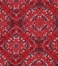 Keepsake Calico Cotton Fabric 43\u0027\u0027-Red Large Diamond Medallion