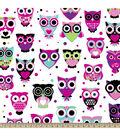 Anti-Pill Fleece Fabric -Owls Bright