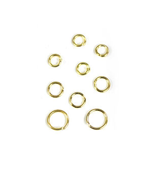 Blue Moon Findings Jump Ring Metal 5, 6 & 8mm Gold