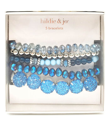 hildie & jo 5 pk Bracelets in a Box-Blue