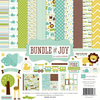 Echo Park Paper Company Bundle Of Joy Boy Collection Kit Baby Boy