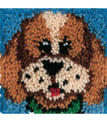 Wonderart Latch Hook Kit 8\u0022X8\u0022-Puppy