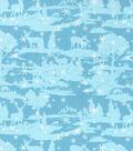 Christmas Cotton Fabric 43\u0022-Glitter Forest Friends
