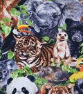 Novelty Cotton Fabric-Jungle Animals