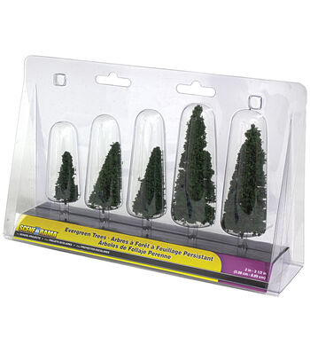 "Evergreen Trees 2"" To 3.5"" 5/Pkg"