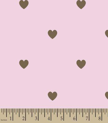 Pink Hearts Print Fabric