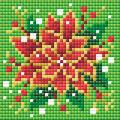 RIOLIS Diamond Mosaic Embroidery Kit 4\u0027\u0027X4\u0027\u0027-Poinsettia