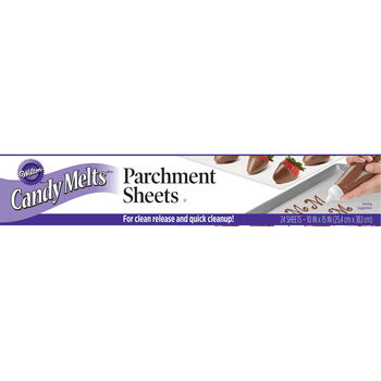 "Wilton Candy Melt Parchment Sheets 24/Pkg-10""X15"""