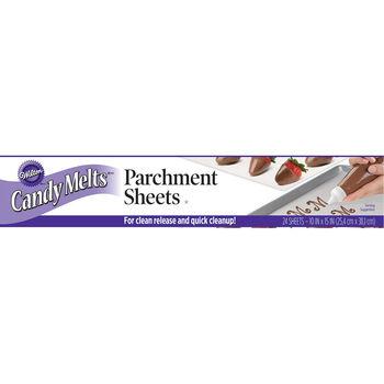 """Wilton Candy Melt Parchment Sheets 24/Pkg-10""""X15"""""""