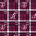 Texas A&M University Aggies Fleece Fabric -Plaid