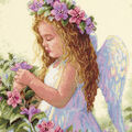 Dimensions Passion Flower Angel Counted Cross Stitch Kit