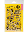Waffle Flower Crafts 22 pk Clear Stamps 4\u0027\u0027x6\u0027\u0027-Tea For Two