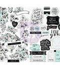 Flirty Fleur Sticker Sheet 4\u0022X6.5\u0022 4/Pkg-W/Foil Accents