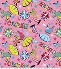 Anti-Pill Fleece Fabric 61\u0022-Cheer Spirit Print