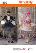 Simplicity Pattern 1300-Misses\u0027 Costume Overdress and Skirt